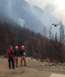 Hummingbird Drones wildfires