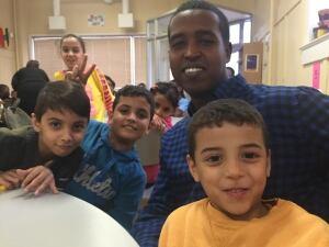 Refugee children at NEEDS