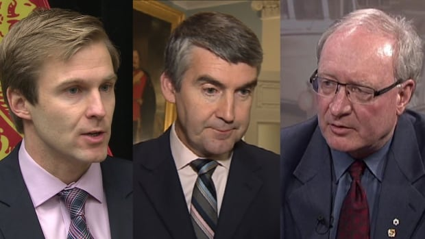 New Brunswick Premier Brian Gallant, Nova Scotia Premier Stephen McNeil and P.E.I. Premier Wade MacLauchlan are meeting in Fredericton on Wednesday. Newfoundland and Labrador Premier Dwight Ball could not make it to the meeting.