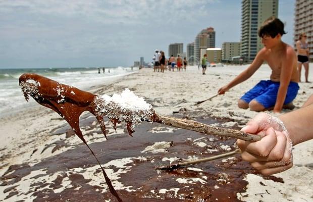 Back Story - BP Oil Spill - Children on beach