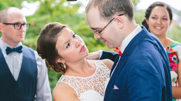 Jemana Elsharkawi, left, is seen on her wedding day with her brother Adam Elsharkawi, who has autism, in this Aug. 8, 2015 handout photo.