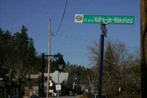sign wakefield vallee municipality province