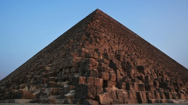 Khufu, the largest of the Giza pyramids, is seen in Egypt on Monday. The country's Antiquities Ministry says a scanning project has identified thermal anomalies.
