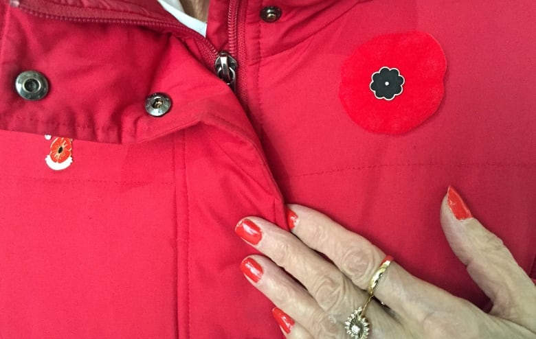 3fa4a8e162 Along with volunteering for the Poppy Campaign, Lepidus also sells poppy  pin centres for $3 a piece for the No. 1 Legion in Calgary. (Danielle  Nerman/CBC)
