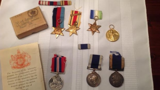 The medals recovered belonged to Second World War veteran Harry Coombs and his father, a First World War veteran. They're now in possession of the Coombs family.