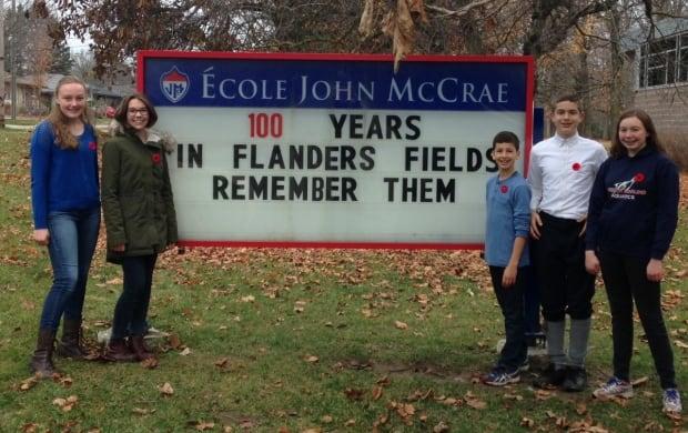 John McCrae Public School students