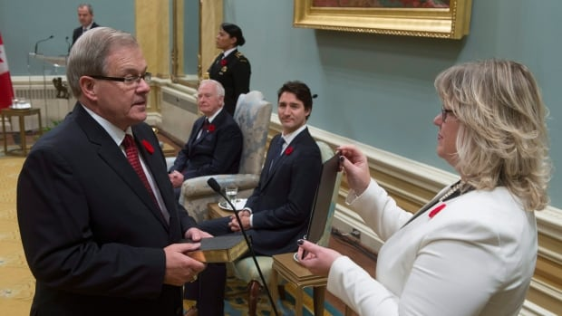 Agriculture Minister Lawrence MacAulay, seen here during his swearing-in last Wednesday, told Reuters Tuesday that he expects to support the Trans-Pacific Partnership trade deal.