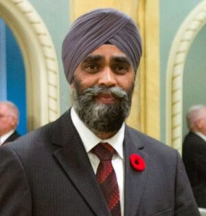 National Defence Minister Harjit Singh