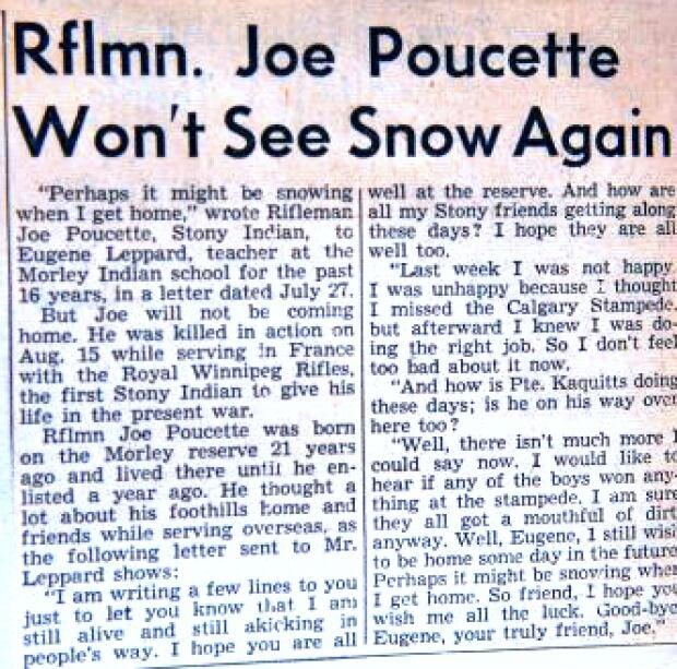 Joe Poucette Newspaper Obituary