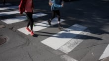 Pedestrians in crosswalk