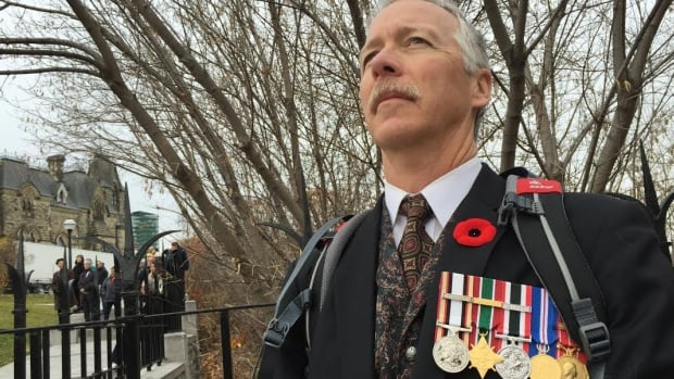 Rob Martin, who received a medical discharge from the military in 2010, felt well enough to attend the Remembrance Day ceremony in Ottawa for the first time in six years on Wednesday.