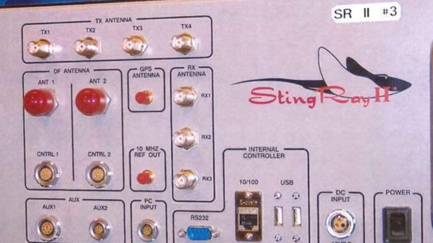 This undated photo provided by the U.S. Patent and Trademark Office shows the StingRay II, manufactured by Harris Corporation, of Melbourne, Fla., a cellular site simulator used for surveillance purposes.
