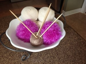 Knitting needles and knitted knockers