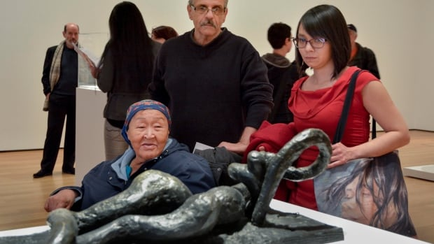 Saimaiyu Akesuk and Papiara Tukiki, two Nunavut artist promoting Cape Dorset prints in New York, took some time to check out MOMA's Picasso Sculpture exhibition.