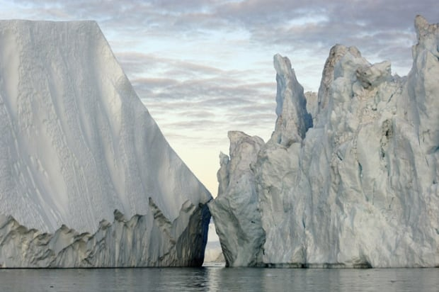 Icebergs, Disko Bay, Greenland (James Balog)