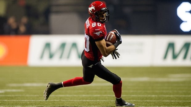 Calgary receiver Eric Rogers, the CFL's top catcher, isn't just productive (1,448 yards), but spectacular to watch.
