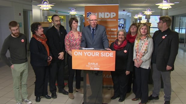 NDP Leader Earle McCurdy announced Friday that a government under his leadership would freeze all tuition and residence fees at Memorial University and College of the North Atlantic.