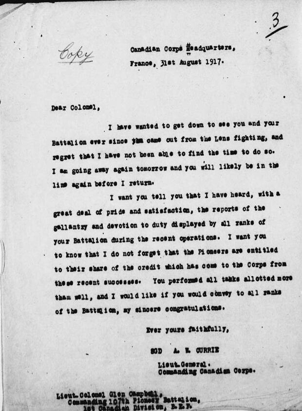 Glen Campbell letter