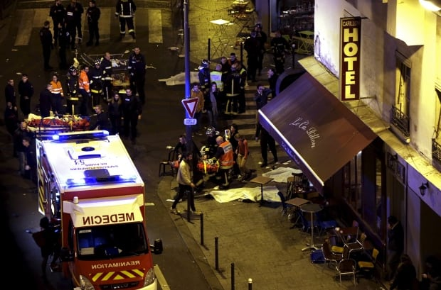 Paris FRANCE-SHOOTING bodies in the street Nov 13 2015