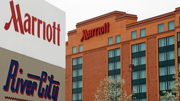 This file photo shows a Marriott hotel in Cranberry Township, Pa. Marriott International announced Nov. 16, 2015, it is buying rival hotel chain Starwood for $12.2 billion US in a deal that will secure its position as the world's largest hotelier.