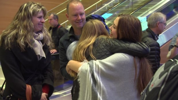 Vincent Massey Collegiate students hugged friends and family when they got home from Paris last month. Seven students and two teachers from Winnipeg were on the trip to France when the attacks on Paris occurred.