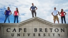 Cape Breton University sign