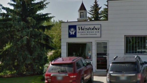 This Westoba Credit Union branch in Bruxelles, Man., is one of four that will shut down on Dec. 4.