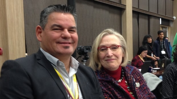 """From my heart of hearts... Carolyn is here as a friend,"" Ontario Regional Chief Isadore Day (left) says of Indigenous Affairs Minister Carolyn Bennett."