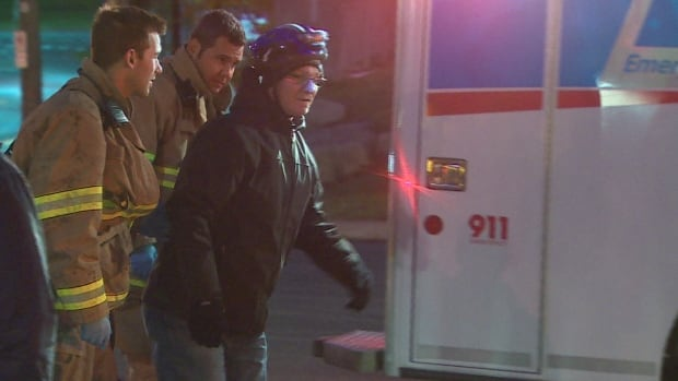 A cyclist hit by an SUV was checked out by paramedics, but did not have serious injuries.