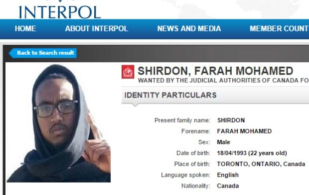 Farah Mohamed Shirdon Interpol