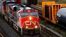 Canadian National CN rail train