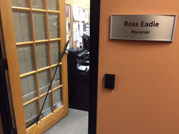 Ross Eadie's city hall office