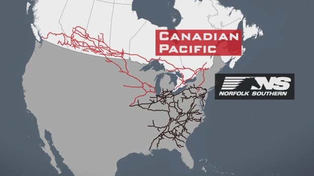 CP Norfolk Southern map