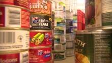 Upper Room food bank shelves