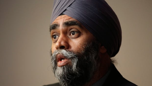 """""""We're going to be taking the fight to ISIS ... and we work as part of a team,"""" says Minister of National Defence Harjit Sajjan."""