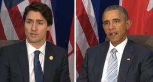 Trudeau, Obama oilsands