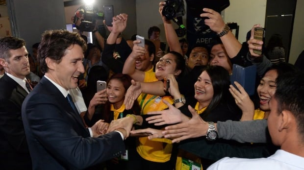 PM Justin Trudeau at APEC summit in Manila