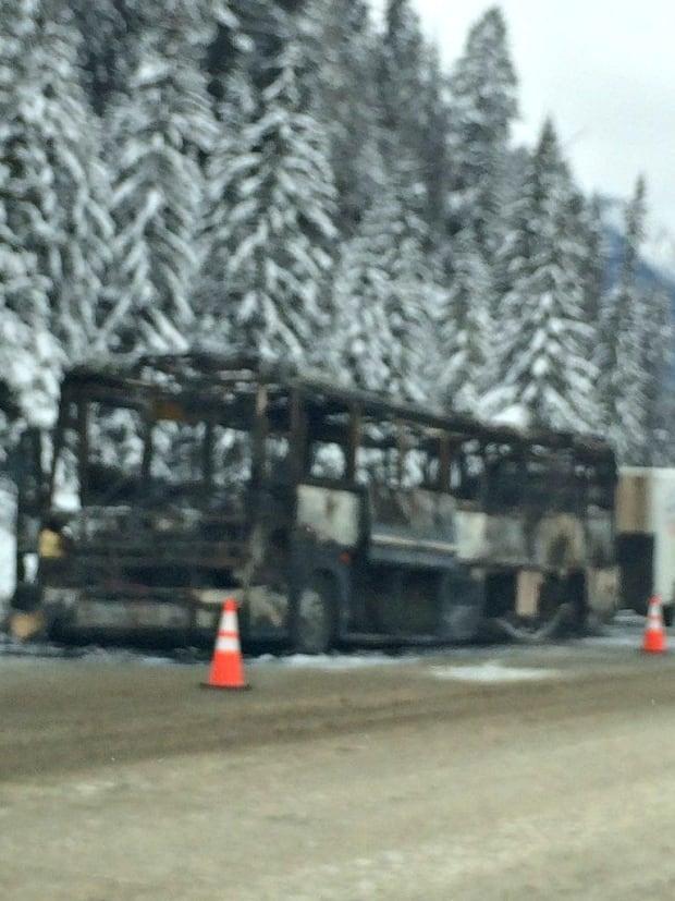 Greyhound Bus Fire Golden Field