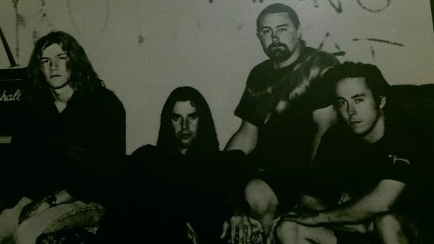 The Hamilton band All Good Children is pictured circa 1990. Left to right: Stewart Fazekas, Simon Ruzzier, Sean O'Kane, Steve Metham. Not pictured: guitarist Frank Koren.
