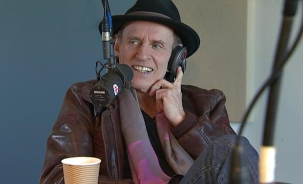 Ron Hynes in CBC studio