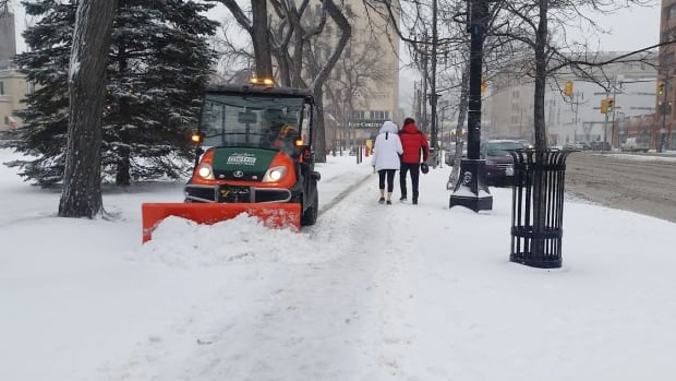 Winnipeg city Coun. Janice Lukes is still waiting for a report she asked for in March 2016 on how the city can improve snow clearing on sidewalks and pathways.