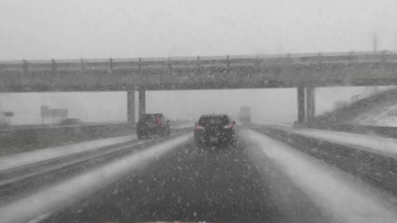 Return of winter weather brings slippery road conditions