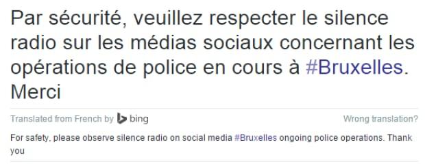 police tweet belgium
