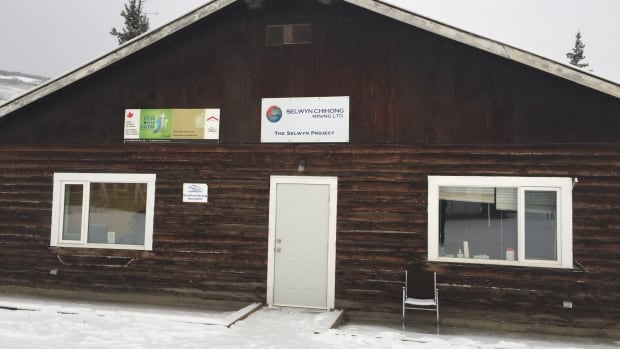 The Selwyn Chihong Mining Ltd. office in Ross River, Yukon. The company's proposed open pit lead-zinc mine site is about 250 km northwest of Ross River.