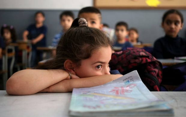 Syrian refugee student in Beirut