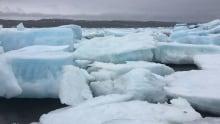Giant slabs of multi-year ice in Iqaluit