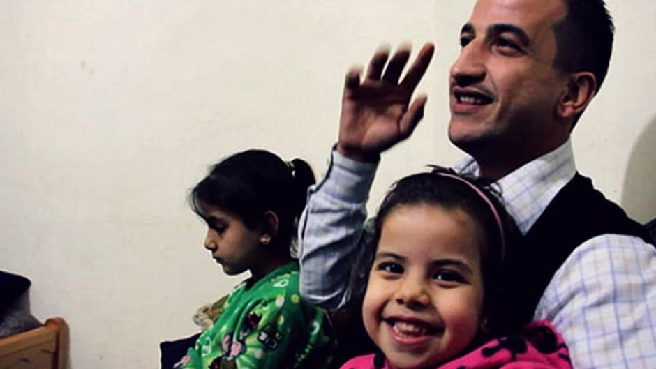 After fleeing Syria for Lebanon, the first family member Anas, of 8 asylum-seekers has arrived in Canada, thanks to The Ripple Refugee group.