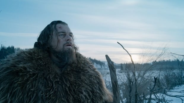 "This photo provided by courtesy of  Twentieth Century Fox shows, Leonardo DiCaprio as Hugh Glass, in a scene from the film, ""The Revenant,"" directed by Alejandro Gonzalez Inarritu. The movie opens in U.S. theaters on Jan. 8, 2016."