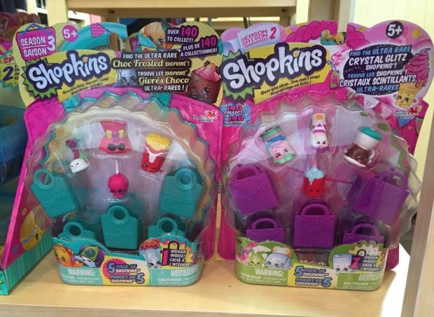 Shopkins packages showing 'series' notation