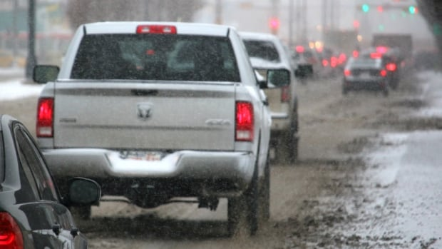 Calgary police responded to 75 collisions between on Tuesday morning, nine of them involving injuries.